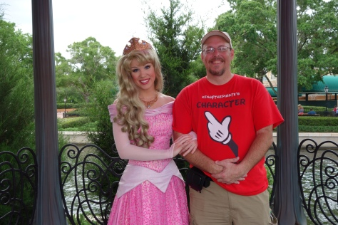 Princess Aurora in France at Epcot