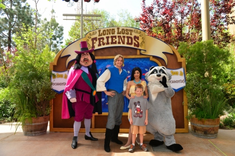 Ratcliffe, John Smith, Pocahontas and Meeko
