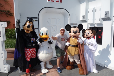 Jedi Mickey, Leia Minnie, Stormtrooper Donald & Darth Goofy at Star Wars Weekends 2013 (1)