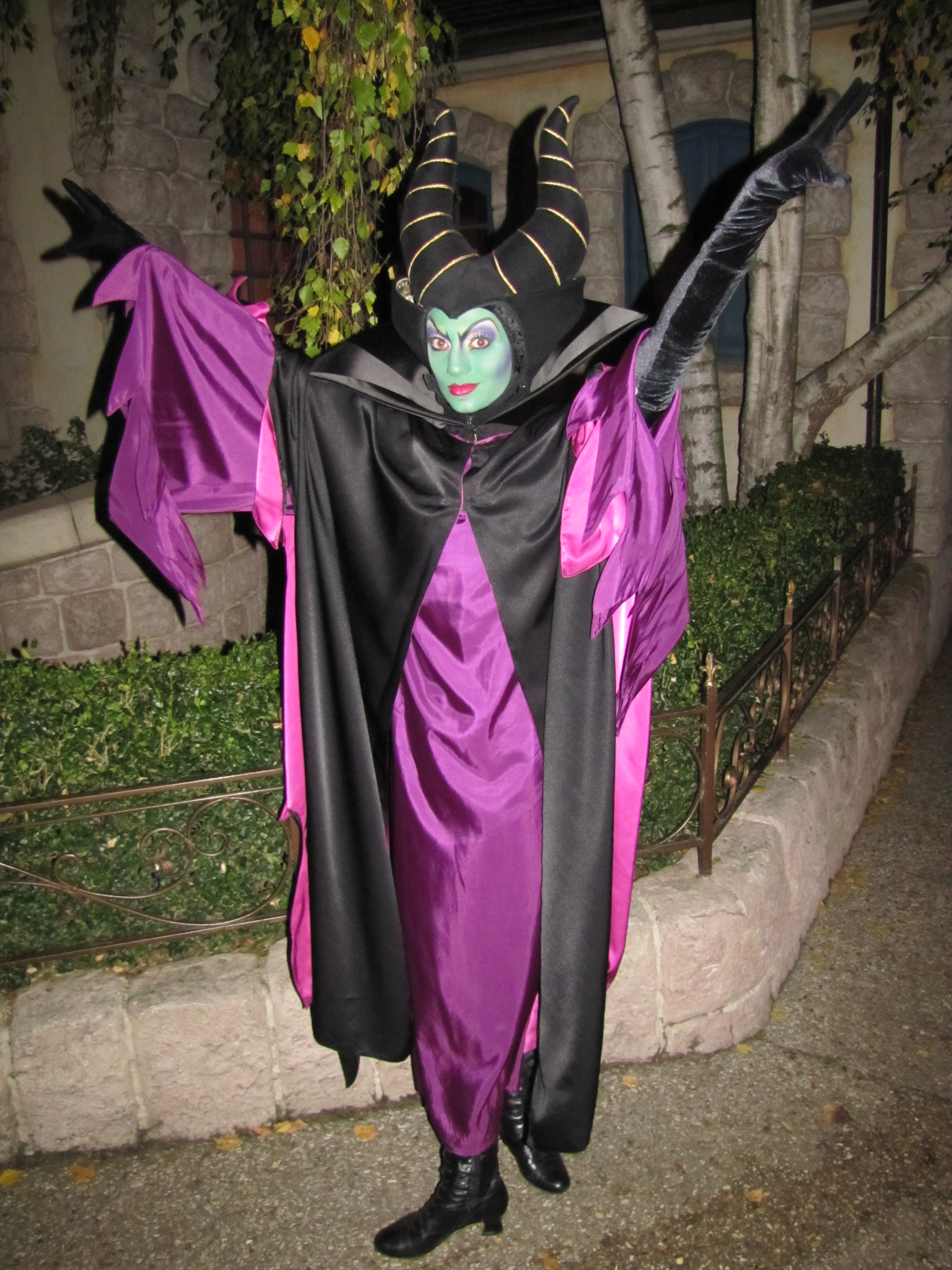 Worldwide wednesdays sleeping beauty characters and auroras blue malificent can be found at disneyland paris during the halloween season during this season she m4hsunfo