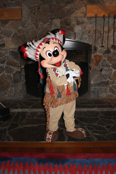 Disneyland Paris, Character Meets, Mickey Mouse, Indian Chief