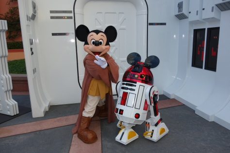 Jedi Mickey and R2-MK at Star Wars Weekends 2013
