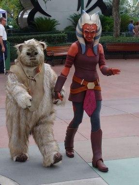 Paploo the Ewok with Ahsoka Tano