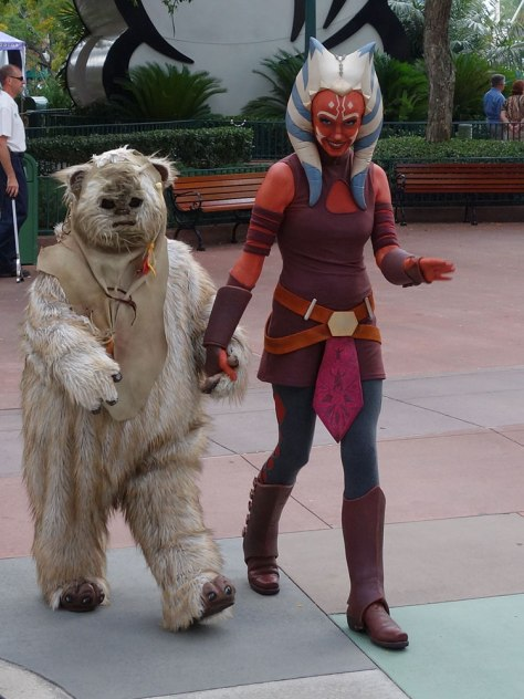 Paploo the Ewok with Ahsoka Tano