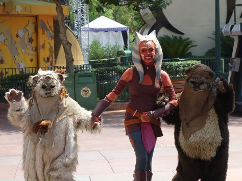 Paploo the Ewok and Wicket with Ahsoka Tano