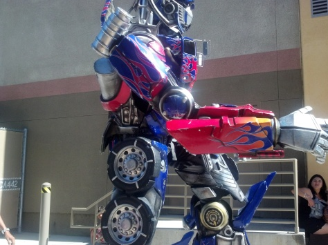 Optimus Prime Transformers Universal Studios Hollywood 2012