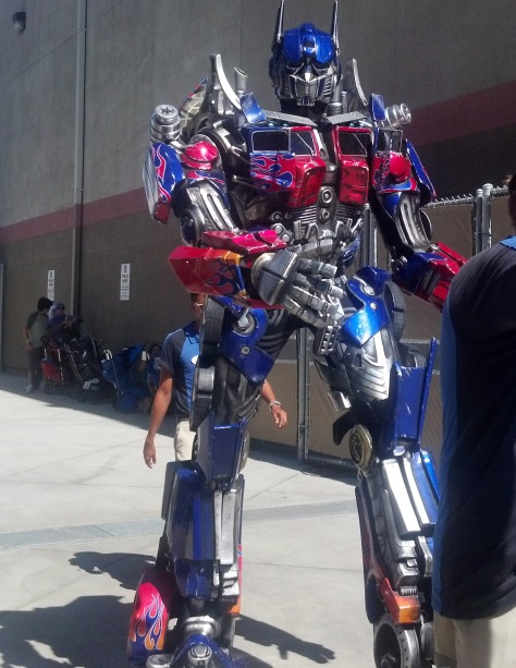 Optimus Prime Transformers Universal Studios Hollywood 2012