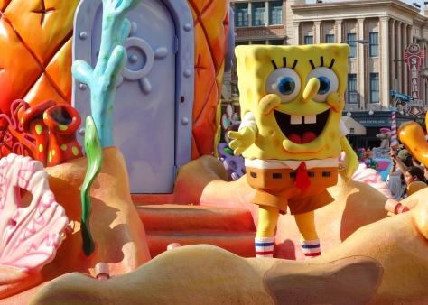 Spongebob Squarepants Universal Studios Orlando 2012 parade unit