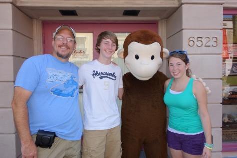 Curious George Universal Studios Orlando June 2013