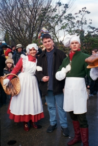 During Christmas Season 2002/2003 and 2003/2004 a small show was held in Belle's Village in Fantasyland. The show featured Belle, Gaston and a couple of the village people including the Baker and his wife. After each show they would do Meet'n'Greets with guests.