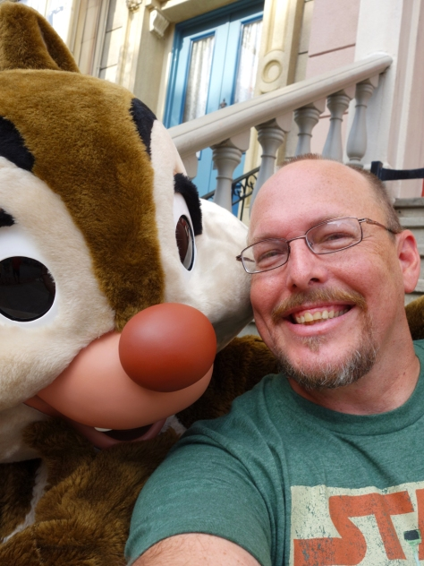 Selfie with Dale.  A nice guy took our photo together afterward, but I liked the selfie better.