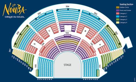 Cirque du Soleil Theater Seating