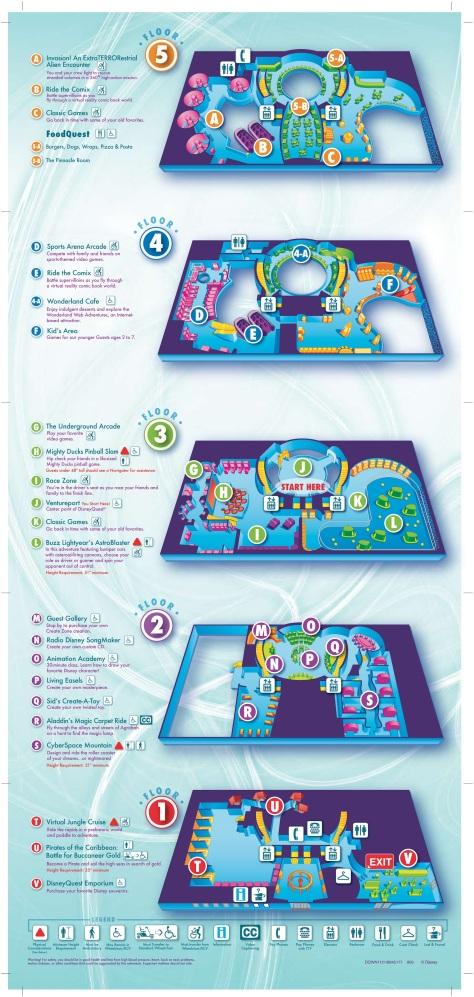 Disney Quest Map