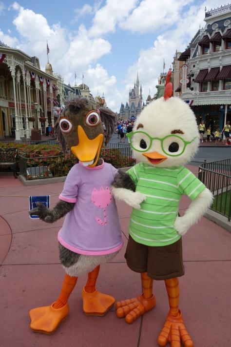 Abby Mallard and Chicken Little Long-lost Friends Magic Kingdom Disney World