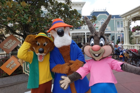 Brer Fox, Brer Bear and Brer Rabbit at Long-lost Friends Magic Kingdom Disney World