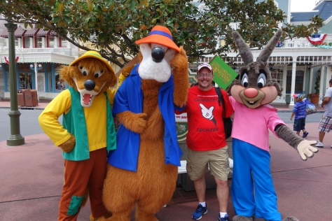 KtP with Brer Fox, Brer Bear and Brer Rabbit at Long-lost Friends Magic Kingdom Disney World