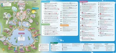 Epcot 2014 map