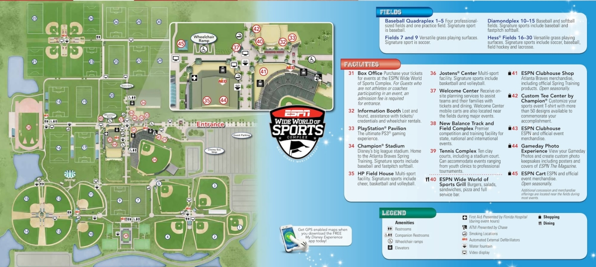 Espn Wide World Of Sports Map Kennythepirate S Unofficial Guide To Disney World