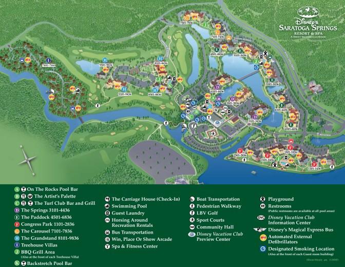 Saratoga Springs Resort Map