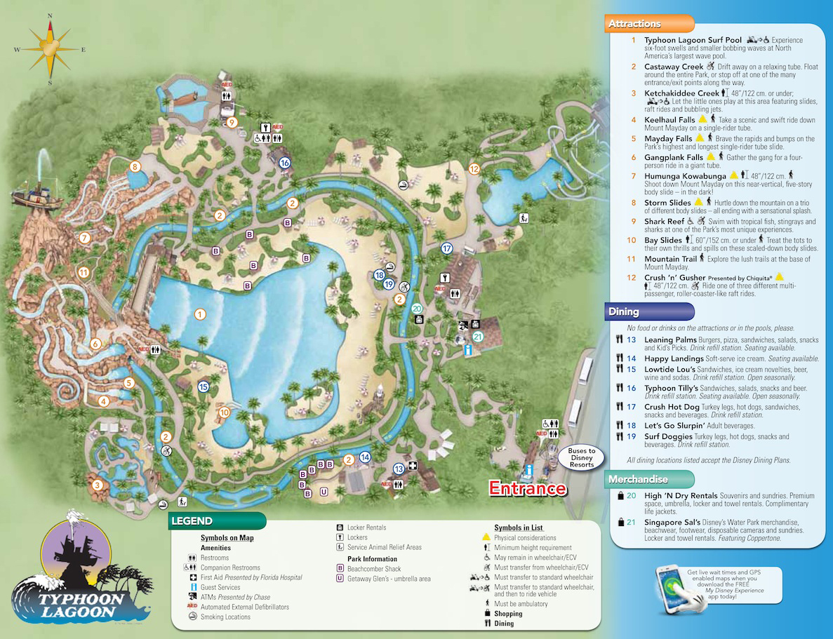 Typhoon Lagoon Map Kennythepirate S Guide To Disney World