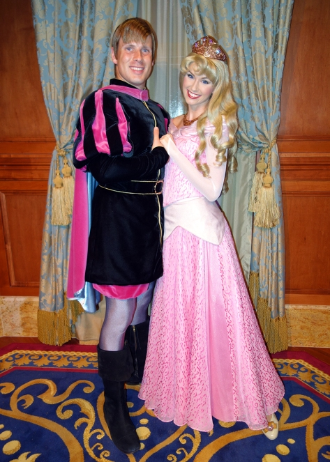 Princess Fairytale Hall Walt Disney World Magic Kingdom Aurora and Prince Phillip (2)