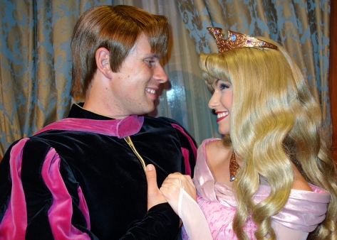 Princess Fairytale Hall Walt Disney World Magic Kingdom Aurora and Prince Phillip (4)