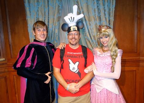 Princess Fairytale Hall Walt Disney World Magic Kingdom Aurora and Prince Phillip (6)