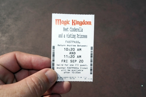 The first time I used a Fastpass here for Cinderella, they never even asked to see them  :)  I gave it to my daughter to put in her book.  The second time they checked them and took them at the second point as usual.