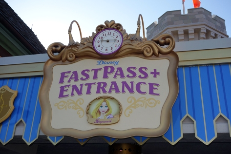 Rapunzel Fastpass or Fastpass+ return is to the FAR LEFT