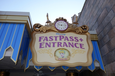 Cinderella Fastpass or Fastpass+ return is to the FAR RIGHT