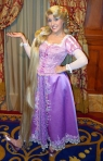 Rapunzel at Princess Fairytale Hall in the Magic Kingdom at Disney World