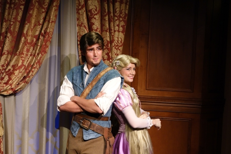Princess Fairytale Hall Walt Disney World Magic Kingdom Rapunzel and Flynn (1)