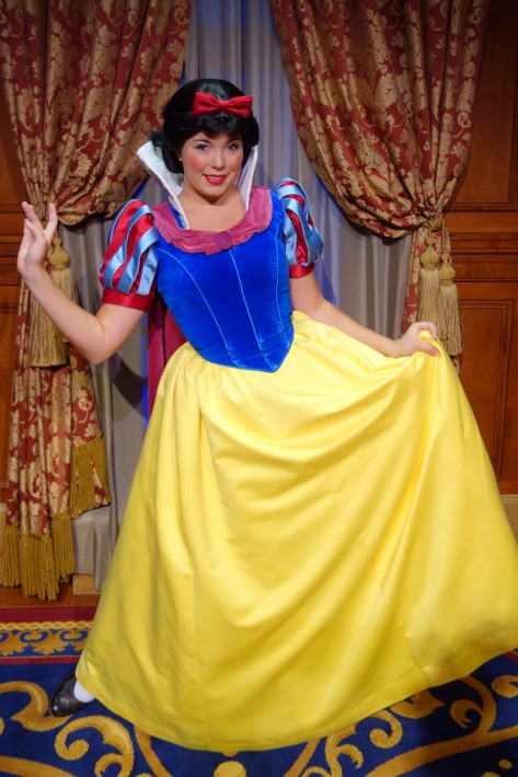 Snow White inside Princess Fairytale Hall