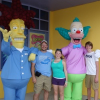 Sideshow Bob and Krusty the Clown at Universal Studios Florida Springfield section