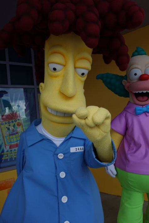 Universal Studios Orlando Sideshow Bob and Krusty the Clown Meet and Greet (2)