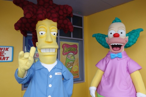 Universal Studios Orlando Sideshow Bob and Krusty the Clown Meet and Greet (4)