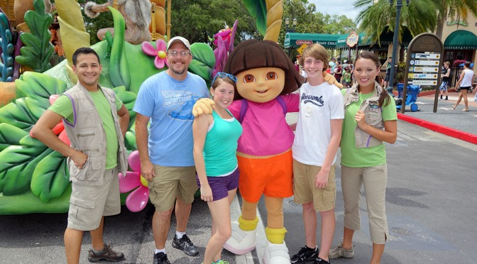 Dora the Explorer at Universal Studios Orlando