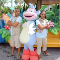 Boots from Dora the Explorer at Universal Studios Orlando