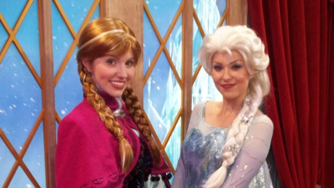"Anna and Elsa meet and greet offering another ""TEST"""