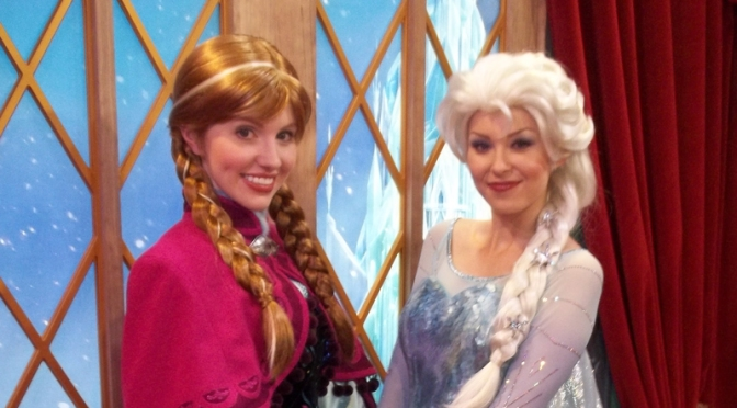 Anna and Elsa from Frozen have moved into Epcot's Norway Pavilion