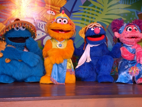 Busch Gardens Tampa Sesame Street Characters  Cookie Monster Zoe Grover Abby Cadabby (1)
