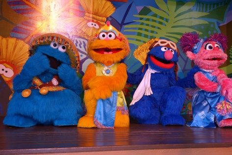 Busch Gardens Tampa Sesame Street Characters  Cookie Monster Zoe Grover Abby Cadabby (2)
