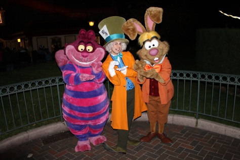 Disneyland Paris, Characters, Halloween, Cheshire Cat, March Hare, Mad Hatter