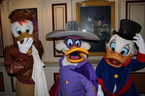 Disneyland Paris, Characters, Halloween, Launchpad McQuack, Darkwing Duck, Scrooge McDuck
