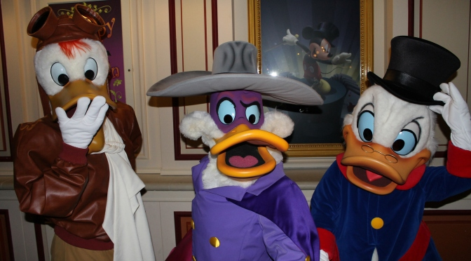 Disneyland Paris Halloween Characters including March Hare Cheshire Cat Yzma Kronk Kuzco Darkwing Launchpad Berlioz Toulouse Gauchito Shellie May and Sultan