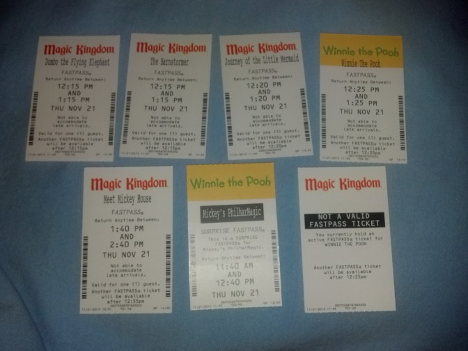 Walt Disney World, Magic Kingdom, Fastpasses