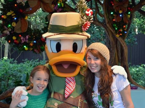 Walt Disney World, Animal Kingdom, Christmas 2013, Camp Minnie Mickey, Donald Duck