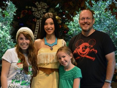 Walt Disney World, Animal Kingdom, Christmas 2013, Camp Minnie Mickey, Pocahontas, Kenny the Pirate
