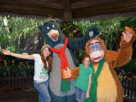 Walt Disney World, Animal Kingdom, Christmas 2013, Camp Minnie Mickey, Baloo, King Louie