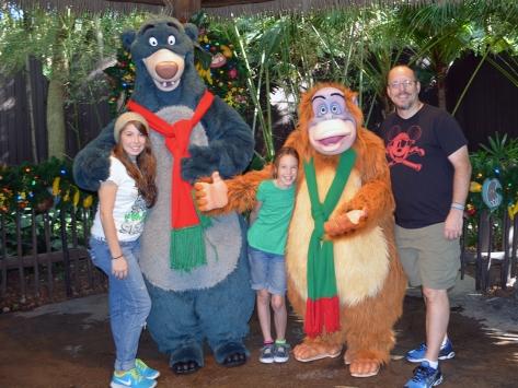 Walt Disney World, Animal Kingdom, Christmas 2013, Camp Minnie Mickey, Baloo, King Louie, Kenny the Pirate